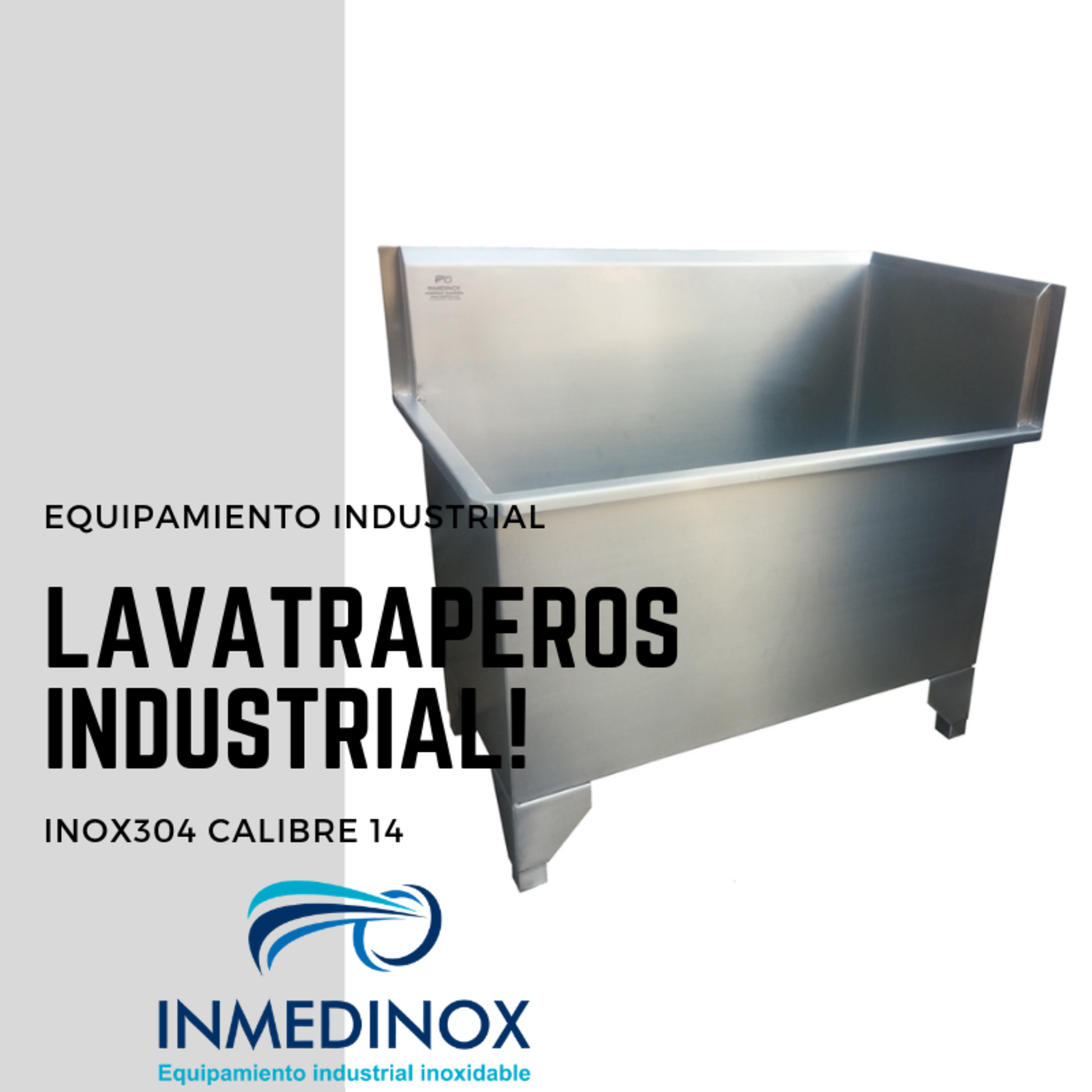 Lavatraperos doble en acero inoxidable