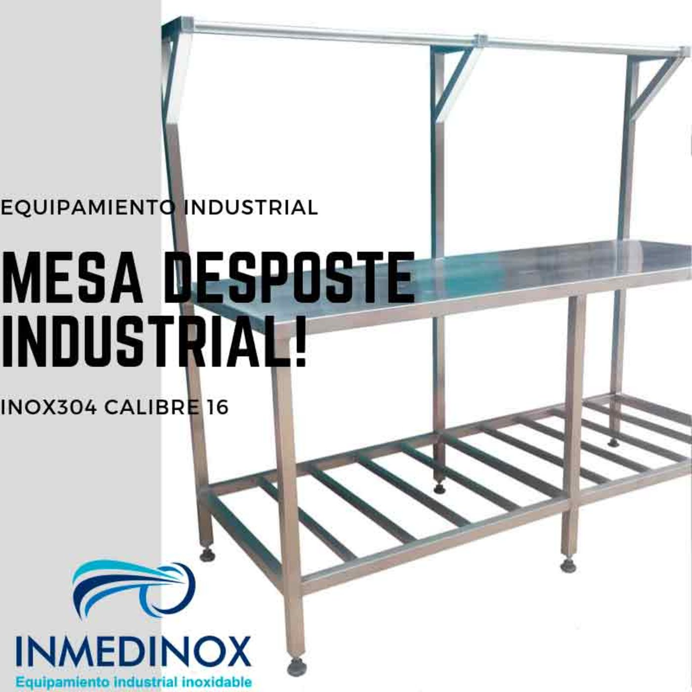 Mesa de desposte en acero inoxidable