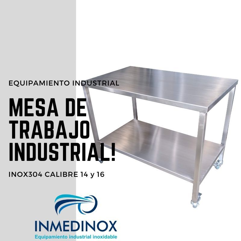 Mesas industriales en acero inoxidable